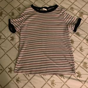 Gaze Striped ribbed tee